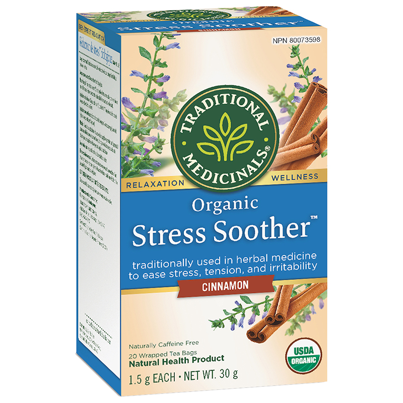 Traditional Medicinals Organic Herbal Stress Soother Tea - Cinnamon - 20 Pack
