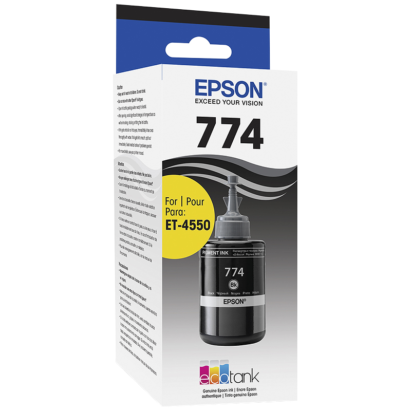 Epson EcoTank Replacement Ink Bottle - Black Pigment - T774120