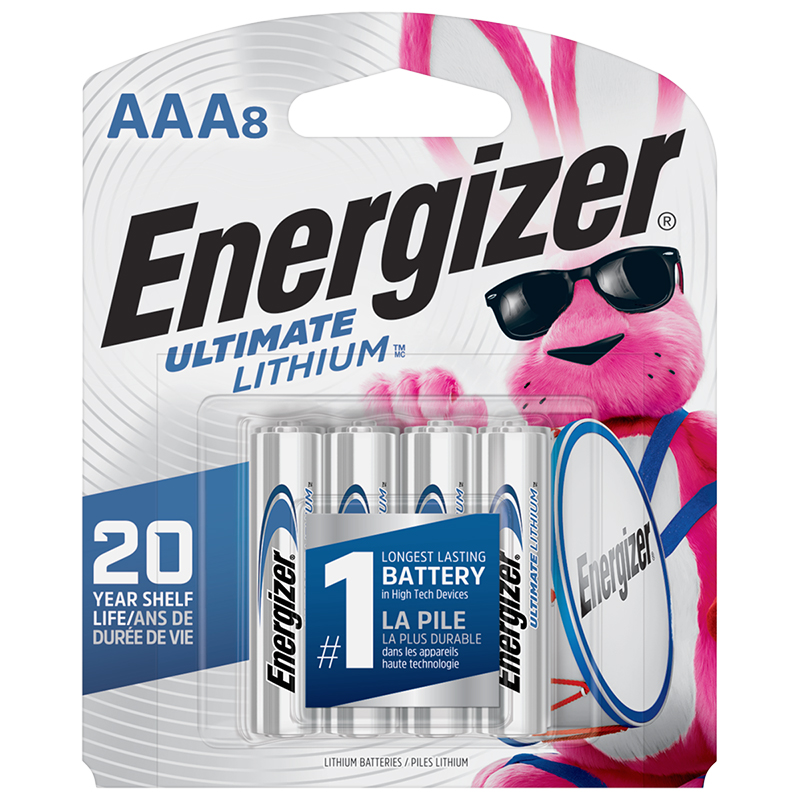 Energizer Ultimate Lithium AAA Batteries - 8 Pack