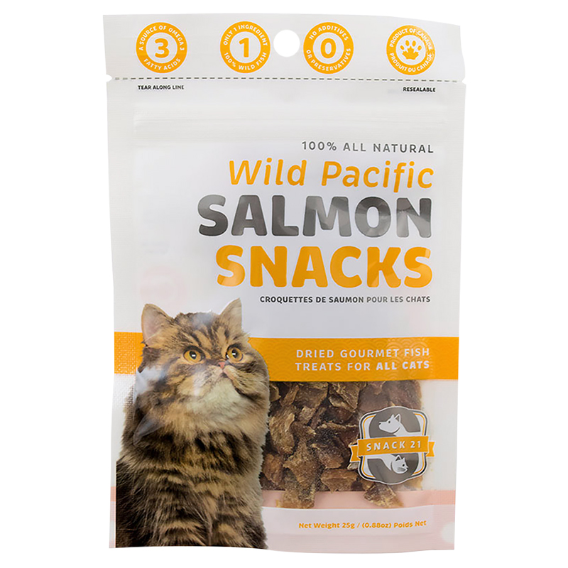 Snack 21 Snack Cats Treats - Wild Pacific Salmon - 25g