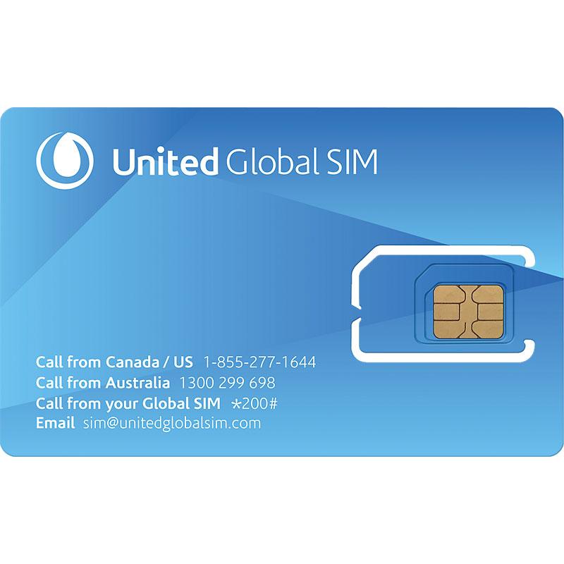 United Global Sim Card 3 In 1 52015 London Drugs