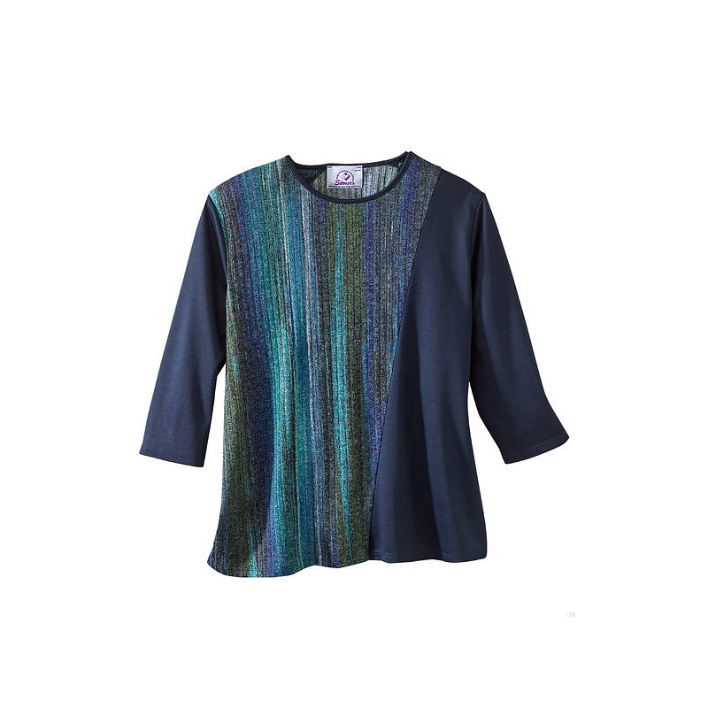Silvert's Women's Crew Neck Knit Sweater - Teal - Small