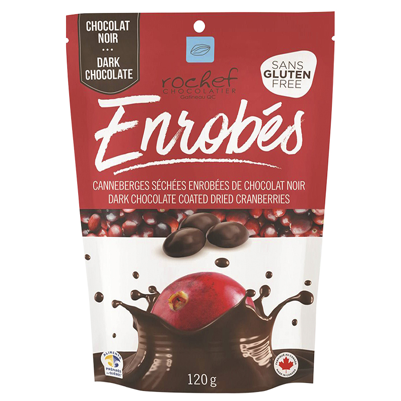 Rochef Enrobes Dark Chocolate Coated Dried Cranberries - 120g