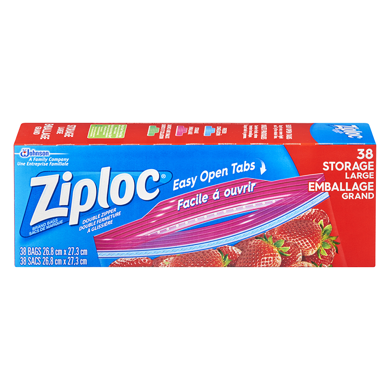 Ziploc Storage Bags - Large - 38's