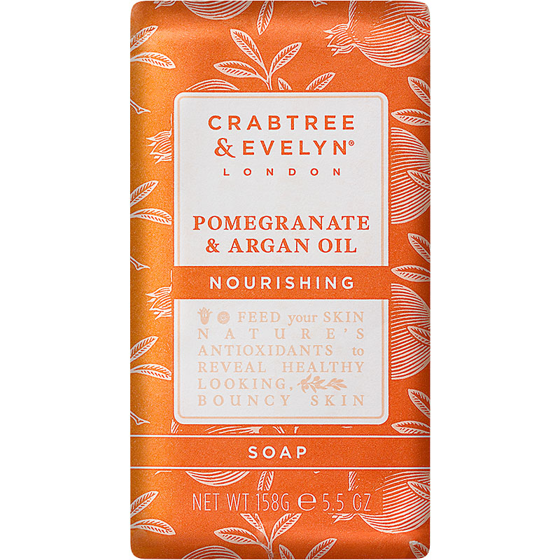 Crabtree & Evelyn Pomegranate & Argan Oil Nourishing Soap - 158g