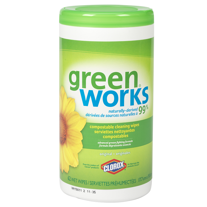 Green Works Cleaning Wipes - Original - 62s