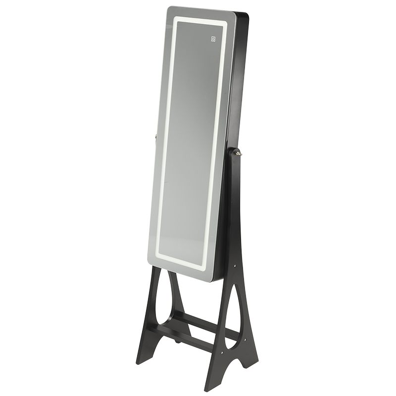 London Drugs Mirror Jewelry Cabinet with Lights - Black