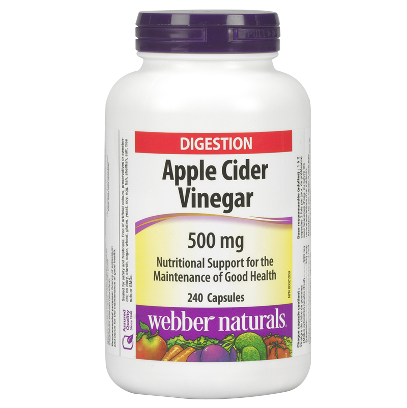 Webber Naturals Apple Cider Vinegar 500mg - 240's