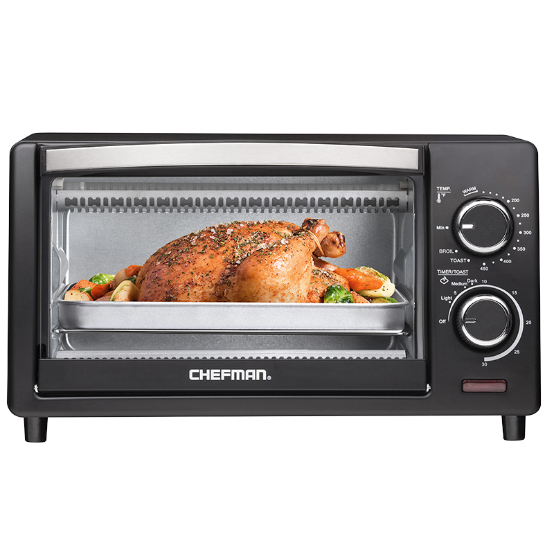 Chefman Variable Temperature 4 Slice Toaster Oven - Black