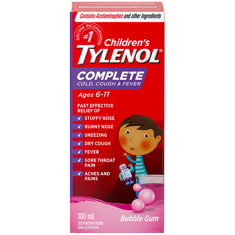 Tylenol* Child's Cold Cough & Fever - 100ml | London Drugs
