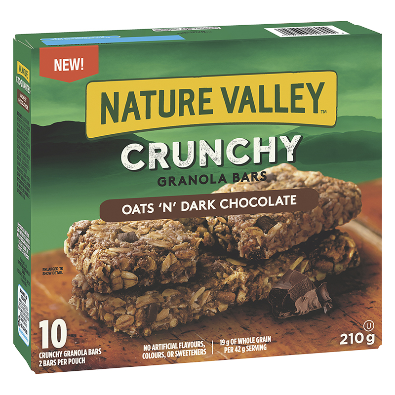 Nature Valley Crunchy Granola Bars - Oats & Dark Chocolate - 5 Pack/210g