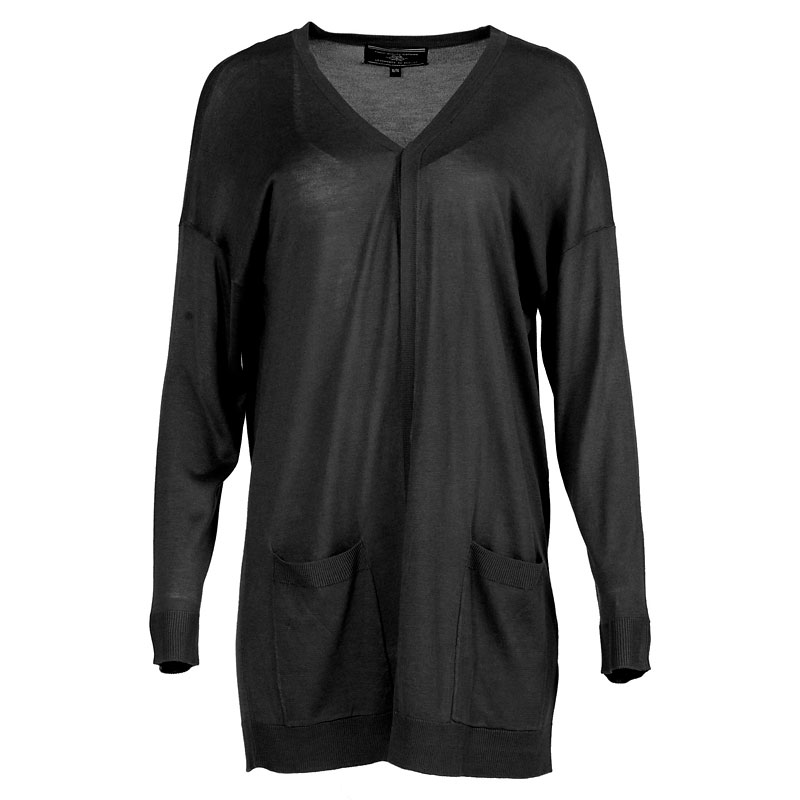 Lava Cardigan with Pockets - Black