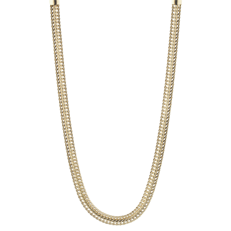 Anne Klein Chain Collar Necklace - Gold Tone