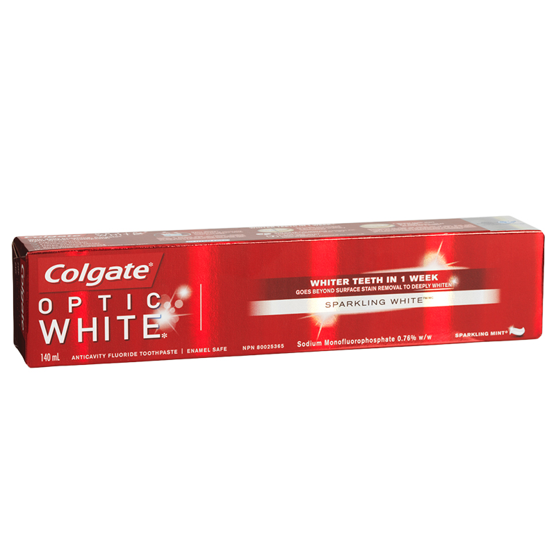 Colgate Optic White Toothpaste - Sparkling Mint - 140ml
