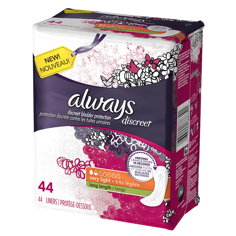 Always Discreet Liners Very Light Long Length - 44's