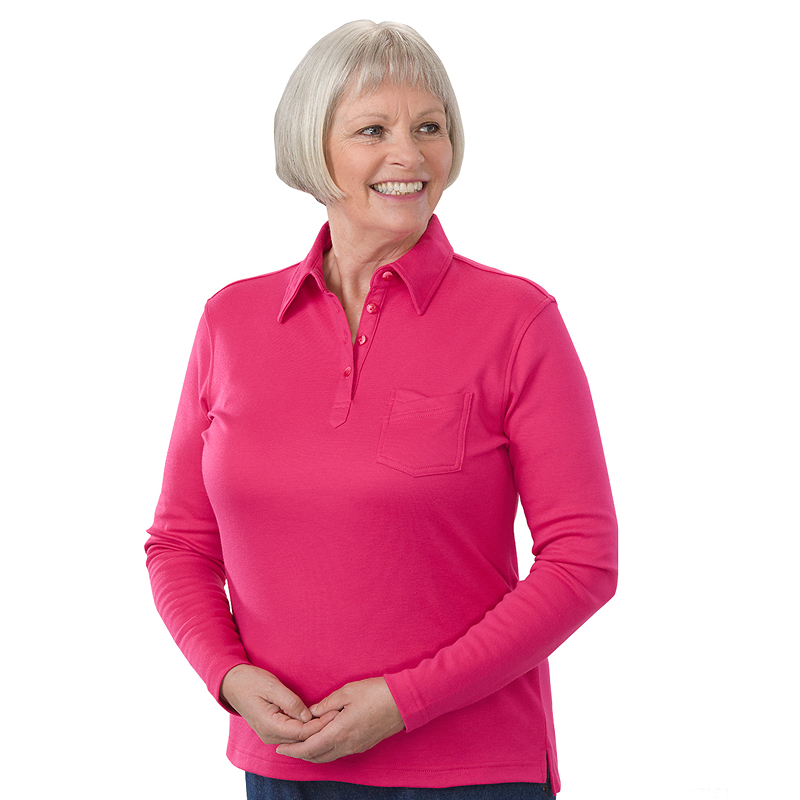 Silvert's Women's Long Sleeve Polo Jersey
