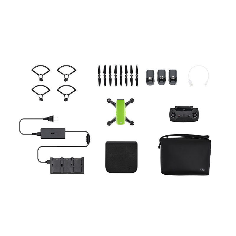 DJI Spark Fly More Combo and Battery Bundle - Green - PKG #25563