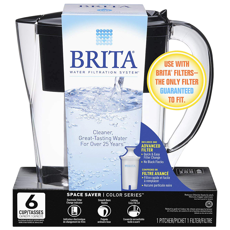 Brita Space Saver Pitcher - Black