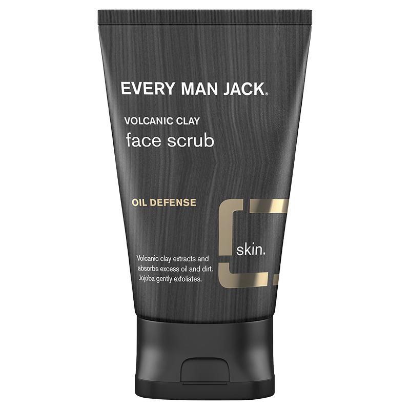 Every Man Jack Volcanic Clay Face Scrub - Oil Defense - 150ml