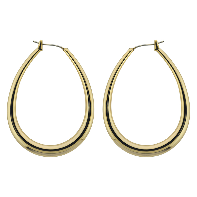 Puccini Oval Hoop Earrings - Gold