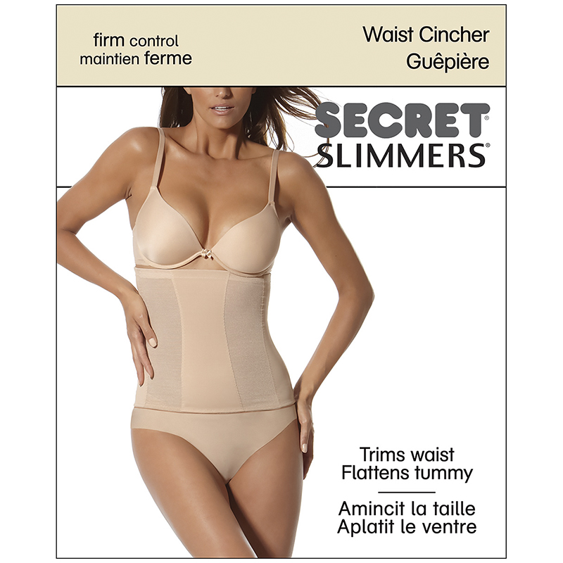 Secret Slimmers Waist Cincher - Large - Black