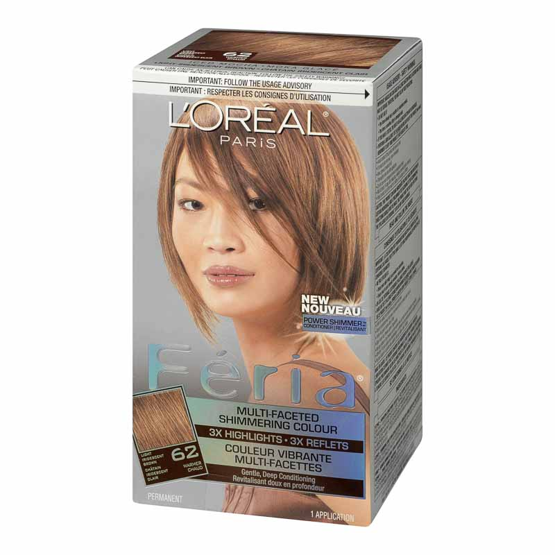 Loreal Feria Hair Colour 62 Light Iridescent Brown London Drugs