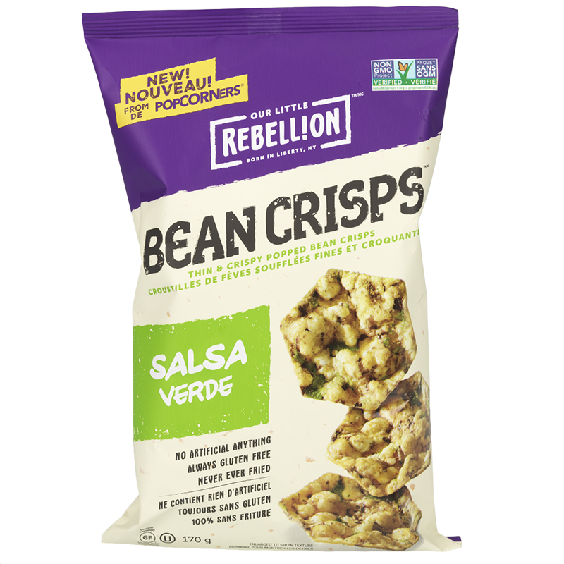 Our Little Rebellion Bean Crisps - Salsa Verde - 170g