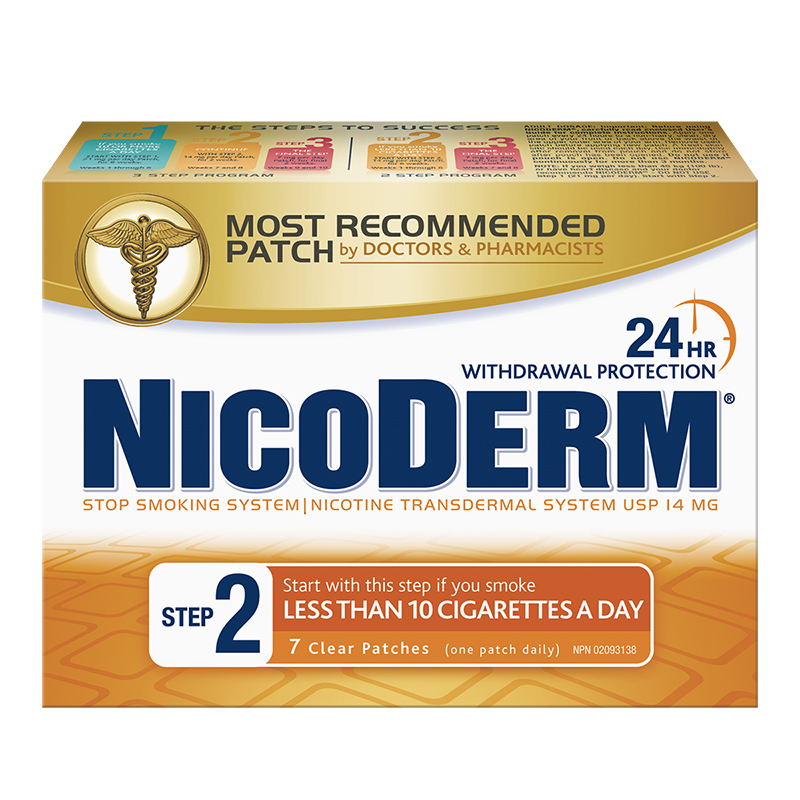 Nicoderm Stop Smoking System STEP 2 - 14mg - 7 clear patches