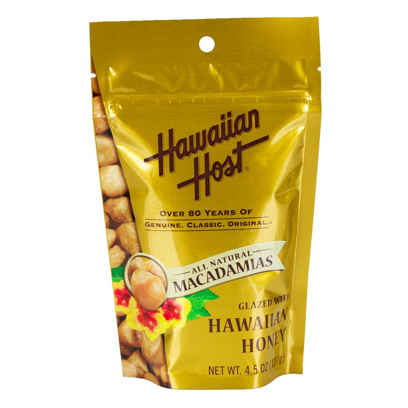 Hawaiian Host Macadamias - Honey Glazed - 127g