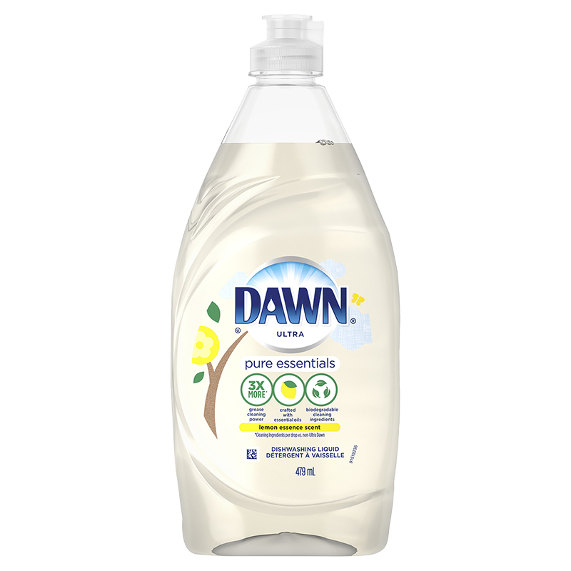 Dawn Pure Essentials Dishwashing Liquid - Lemon Essence - 473ml