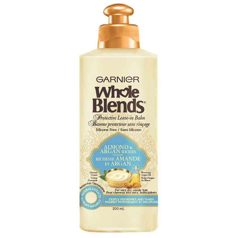 Garnier Whole Blends Protective Leave-in Balm - Almond & Argan Riches - 200ml