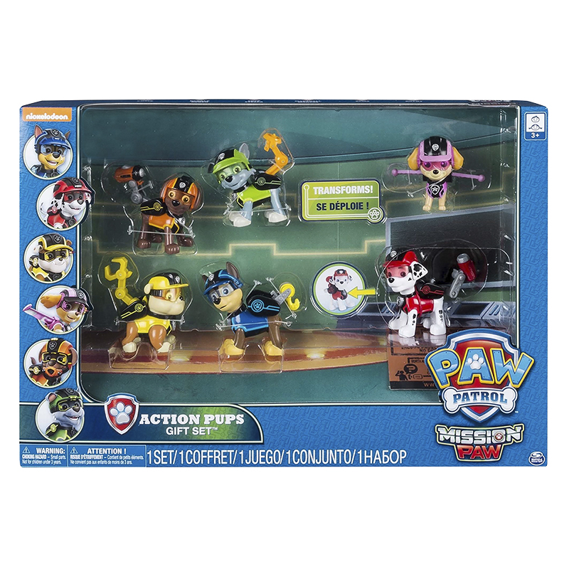 Paw Patrol Mission Paw Action Pups Gift Set