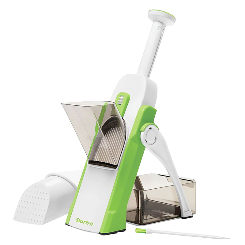 Starfrit Pump N' Slice Vegi Chopper - White/Green