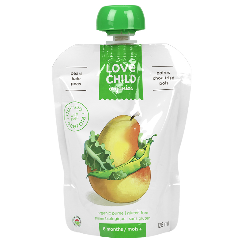 Love Child Pears Kale Peas - 128ml