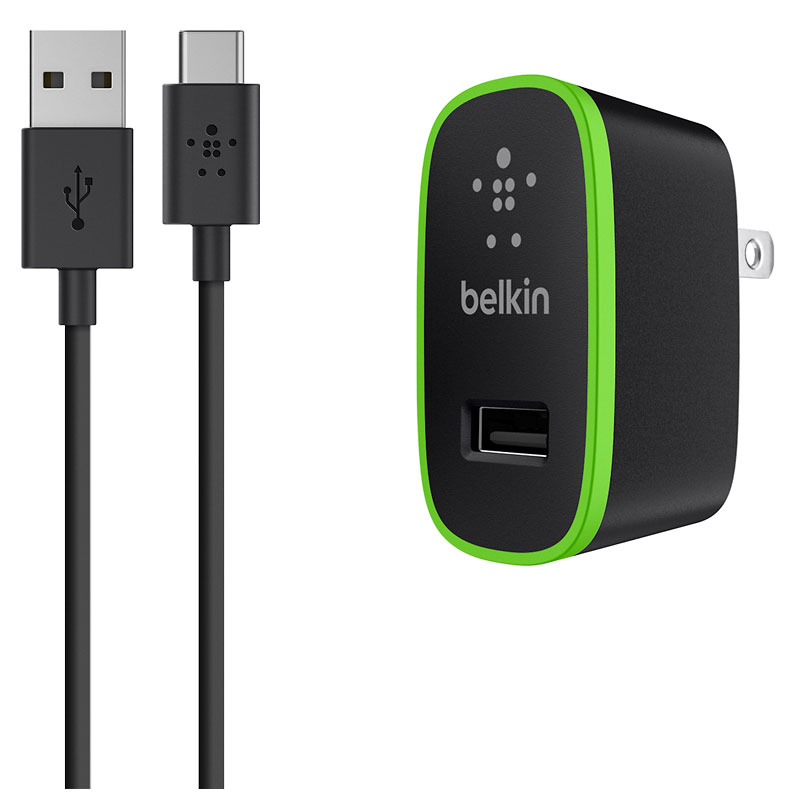 Belkin USB-A to USB-C Cable with Charger - Black - F7U001tt06-BLK