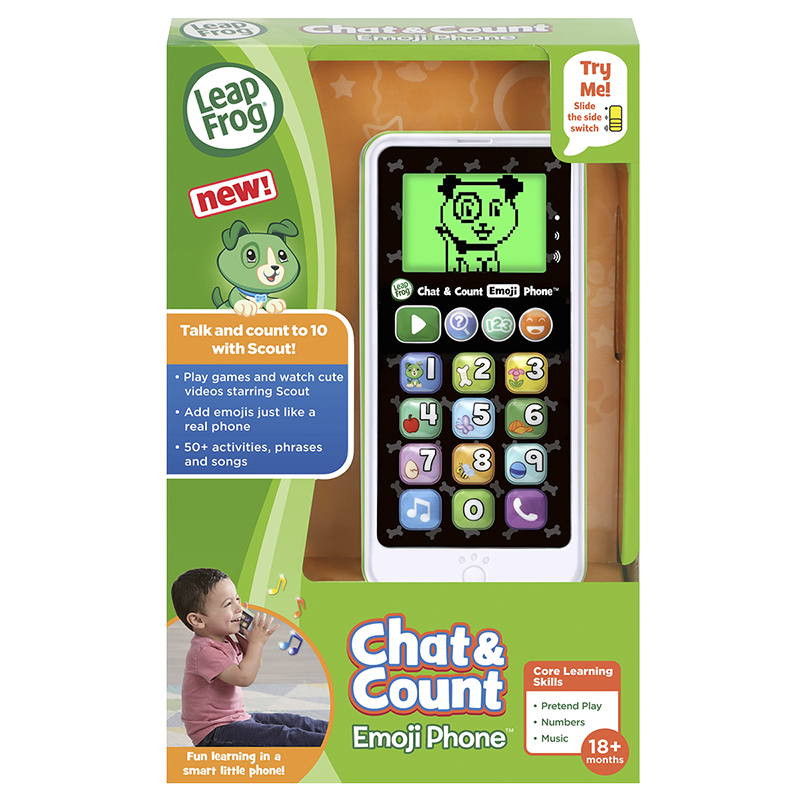 LeapFrog Scout Chat And Count Emoji Phone - Green