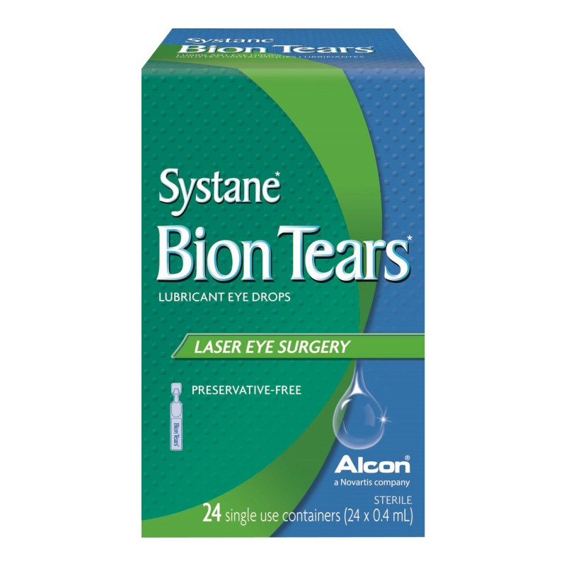 Systane Bion Tears Lubricant Eye Drops - Laser Eye Surgery - 24 x 0.4ml