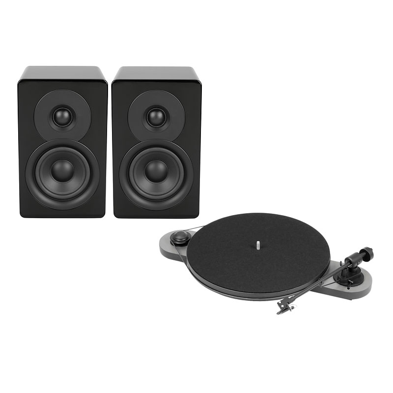 Pro-Ject Elemental Turntable + Timbre Acoustics Speakers - PKG #14247