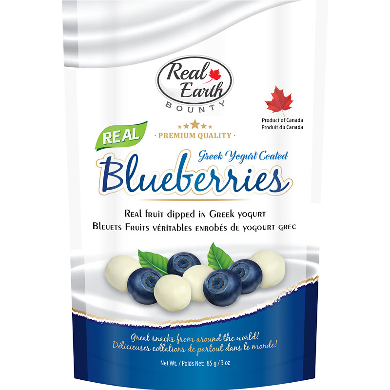Real Earth Bounty Greek Yogurt - Blueberries - 85g