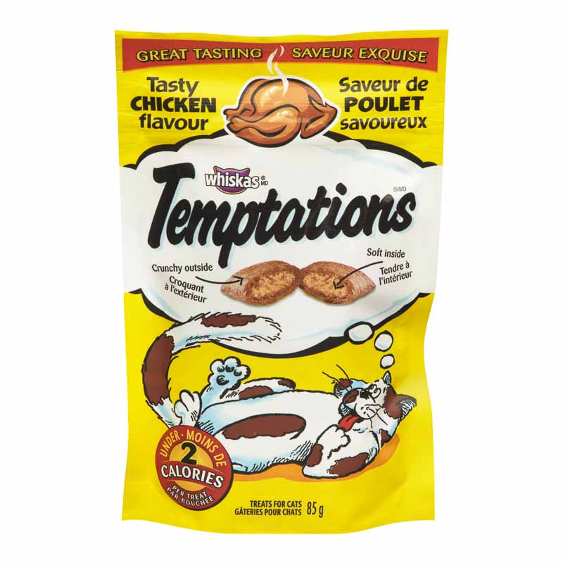 Whiskas Temptations Treats for Cats - Tasty Chicken - 85g