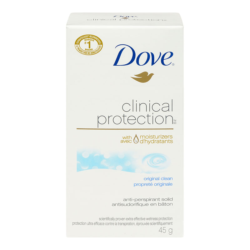 Dove Clinical Protection Original Clean Anti-Perspirant Solid - 45g