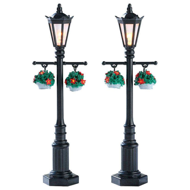 Lemax Battery Operated Old English Lamp Post - Set of 2 - 74231