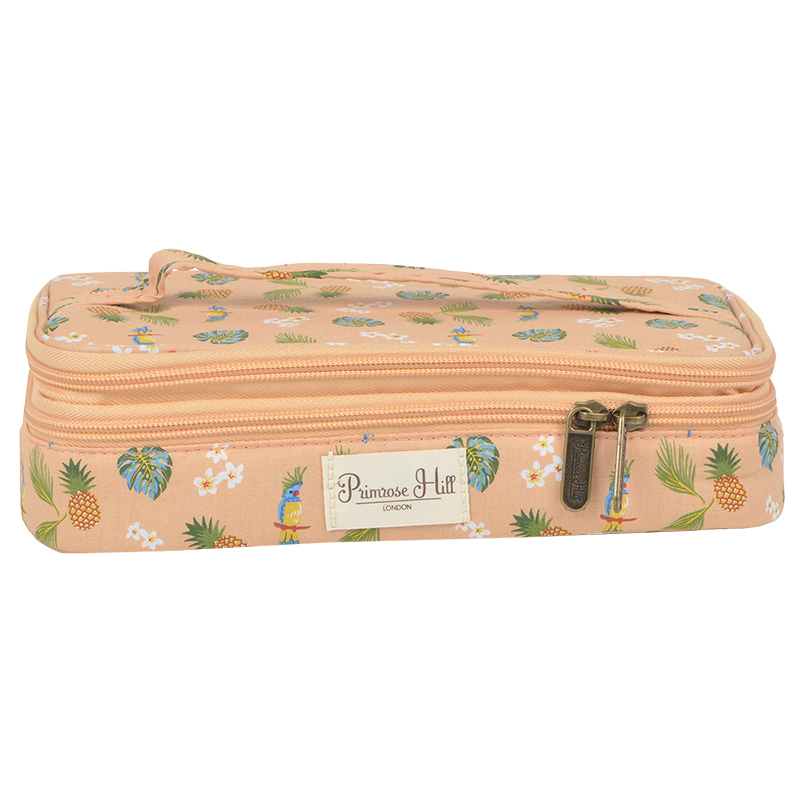 Primrose Hill Double Zip Cosmetic Bag - Fruits Fronds - A008015LDC