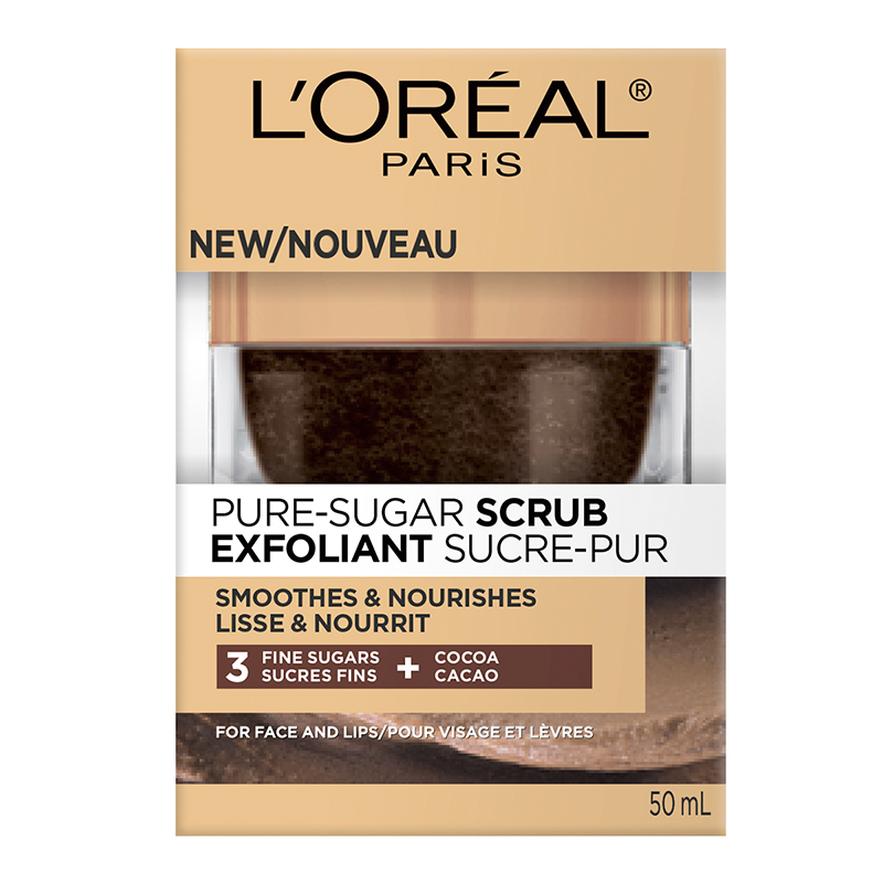L'Oreal Pure-Sugar Scrub - Smooths & Nourishes - 50ml
