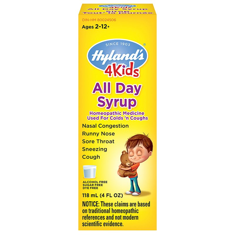 Hyland's 4 Kids All Day Syrup for Cough'n Colds - 118ml