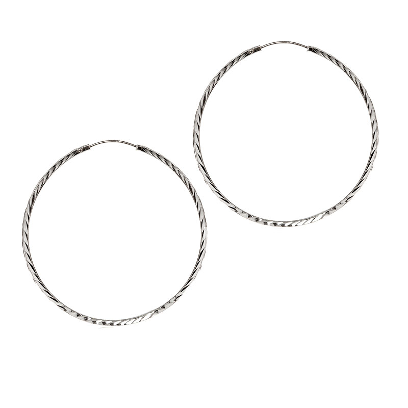 Charisma Sterling Silver Endless Hoop Earrings