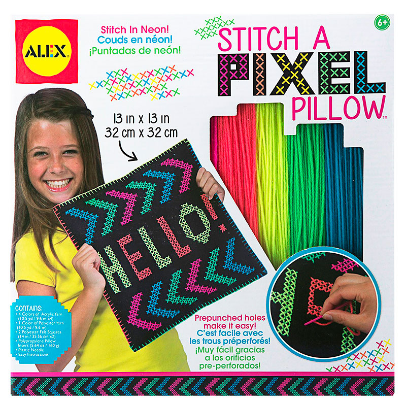 Alex Stitch a Pixel Pillow