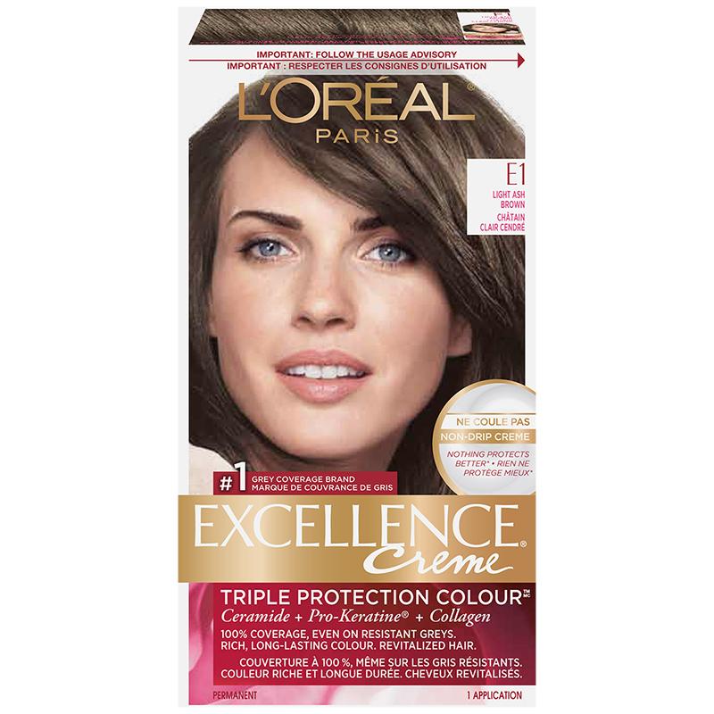 L Oreal Excellence Creme E1 Light Ash Brown London Drugs