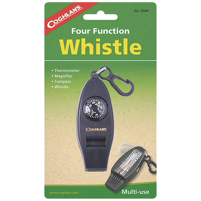 Coghlan's Four Function Whistle - Black