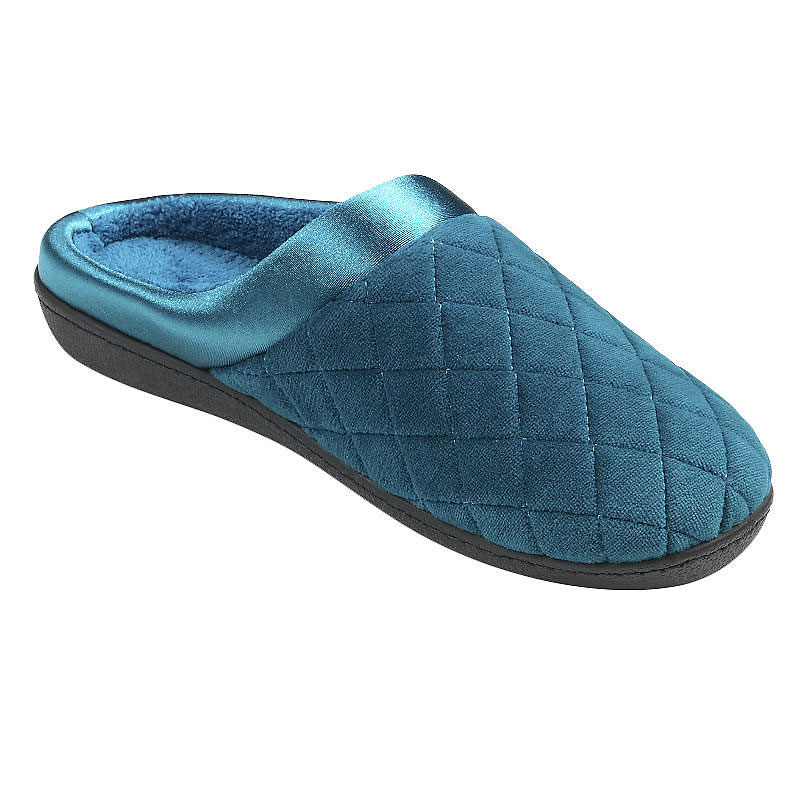 Isotoner Velour Quilted Clog